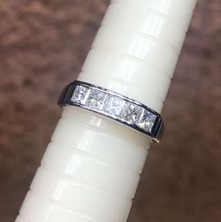 Pt900 princess diamond ring 1.0ct