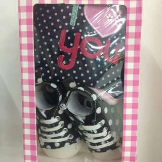 Baby Shoes and Bib