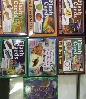 Flash cards in boxes