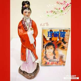 Vintage Chinese Hand-made Porcelain figurines of Ancient Fairy. Dimensions as in photos.  Good condition, no chip no crack. Big, not small. $18 Clearance offer. Sms 96337309 for fast deal.