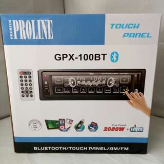 Proline Touch Panel Car Stereo (GPX-100BT) w/ Bluetooth