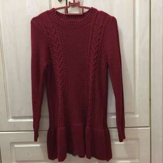 Knitted cute top longsleeve