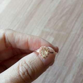 天然綠碧璽活圍戒指