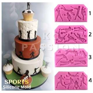 🏌️‍♂️ GOLF • SOCCER • BASEBALL • RUGBY SPORTS SILICONE MOLD TOOL for Pastry • Chocolate • Fondant • Gum Paste • Candy Melts • Jelly • Gummies • Agar Agar • Ice • Resin • Polymer Clay Craft Art • Candle Wax • Soap Mold • Chalk • Crayon Mould •