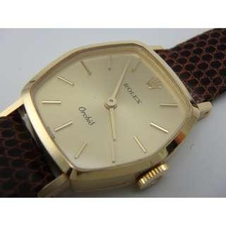 1960's. Rolex Orchid 18k Gold Ref. 2664 蘭花系列 上鍊女裝錶