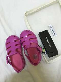 Authentic Dolce & Gabbana Jelly Sandals Size 23