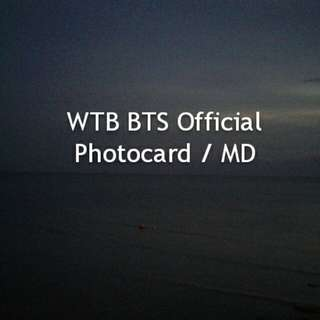 [WTB] BTS Official Photocard/MD