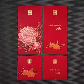 BN Citi Private Bank Flower & Orange Red Packet