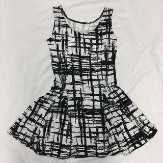 ꏍ黑白線條幾何洋裝ꏍ