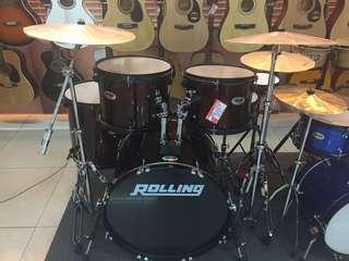 Drumset Rolling kredit tanpa kartu kredit DP 199rb