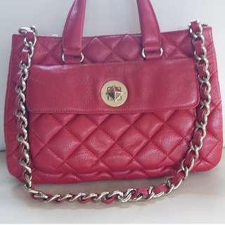 Kate Spade Red Quited Leather Handbag