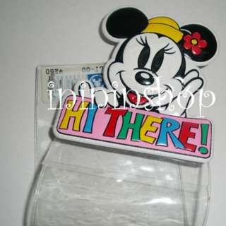 日本迪士尼官方入場卷套 可扣在身上不用之之拿出入場卷出來 絕版美妮版 (軟膠版) 包郵