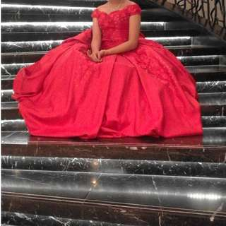 Gown for Rent (Red with petticoat)