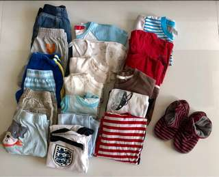 Free Baby Boy's Clothes with purchase above $20 (6 Months - 4 Year Old)