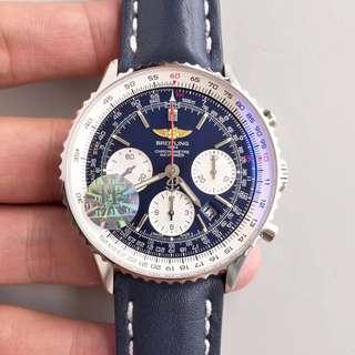 環亞 Breitling 航空 navitimer 藍面 熊貓眼 計時器 43mm JF工廠新版 面交