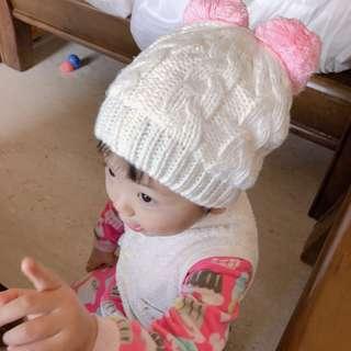 全新 兒童毛線帽 針織