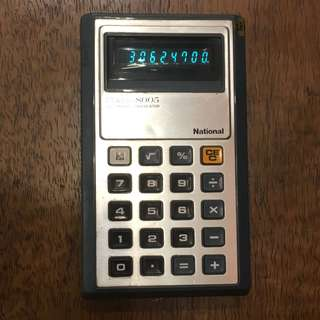 National 螢光燈計算機 懷舊計數機 calculator 70年代