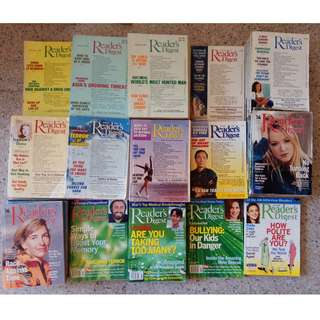 Old Readers Digest Magazines (Cheap!) 1985 - 2013