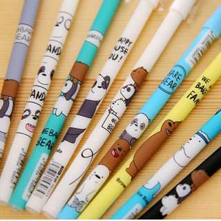 We bare bears pens black and blue