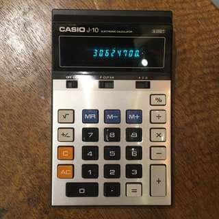 Casio 螢光燈計算機 懷舊計數機 calculator 70年代