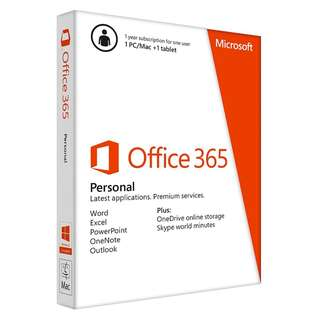 Microsoft Office 365 Personal - For Win/Mac (Retail Box)