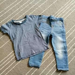 Legging Jeans & Tshirt