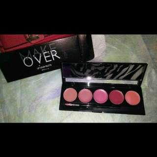 Make over lip colour palette peplum pink