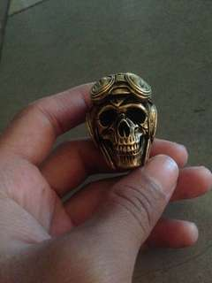 Inksun biker ring kuningan (brass)