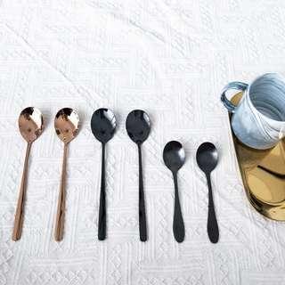 Black/Rose Gold Spoon