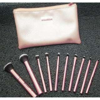 BH Cosmetics Metal Rose Brush Set