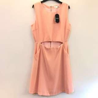 M size 淡粉橘 MIXXO無袖洋裝