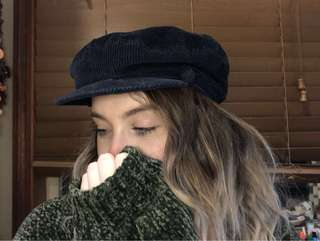 Corduroy Train / Sailor Style Hat