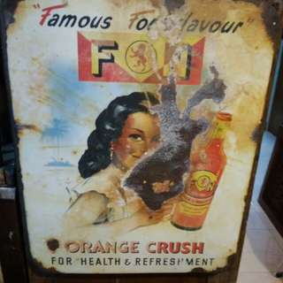 F&N enamel sign