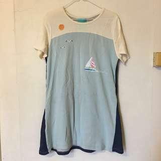 泰國設計師 海洋🐳⛵️棉質洋裝/長版上衣