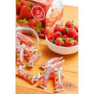 寒天草莓果凍條