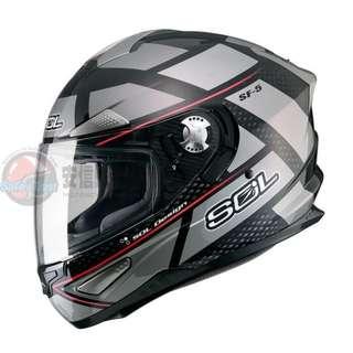 SOL SF-5 SF5 Alpha 阿爾法黑鈦金 全罩安全帽