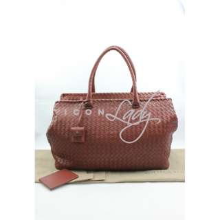 BOTTEGA VENETA 256347 Nappa Brick 啡色小羊皮編織 購物袋 肩背袋 旅行袋 手袋