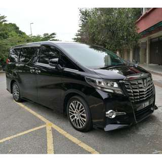 CAR RENTAL ALPHARD 2.5