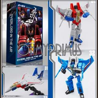 MechFansToys Mech Fans Toys MFT F-01 F01 Overlord In The Air - Transformers KO Oversize DX9 Seekers