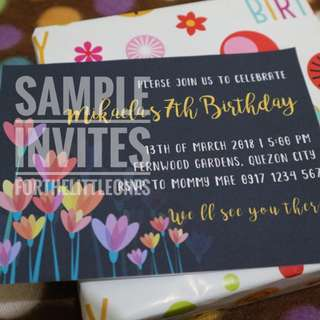Floral Themed Invitation Card