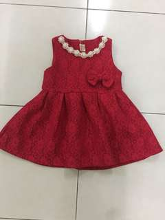 elegant chili red girl dress