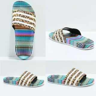 Adidas Adilette Leo Stripe Slide Sandals