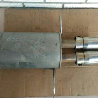 Subaru impreza 白鐵 回壓 排氣管