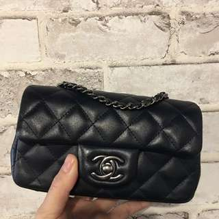 Chanel mini coco17cm 藍黑色 (可換包)