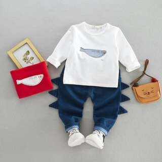 Baby sweater baby pants set