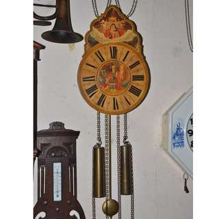 ANTIQUE SBS FEINTECHNIK WEST GERMANY MECHANICAL PENDULUM WALL CLOCK
