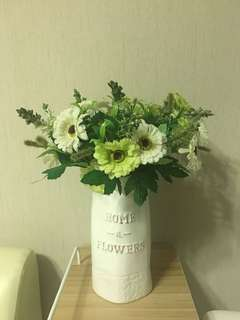 Artificial flower with pot