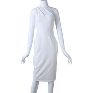 Asos Off White One Shoulders Midi Dress