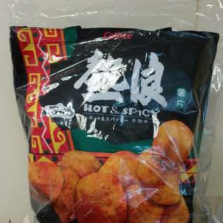 [New] Calbee potato chips with tote bag 卡樂b熱浪香辣味薯片5包裝及側揹袋