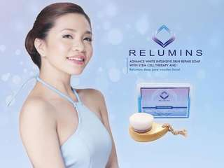 Relumins Advance Whitening Soap w/Intensive Skin Repair & Stem Cell Therapy